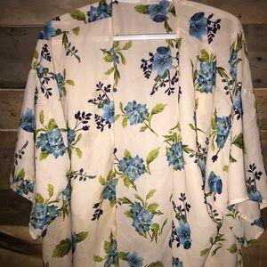 Blue Floral Kimono 👘